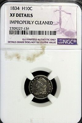 1834 - NGC XF DETAILS Capped Bust Half Dime!!  #B16846