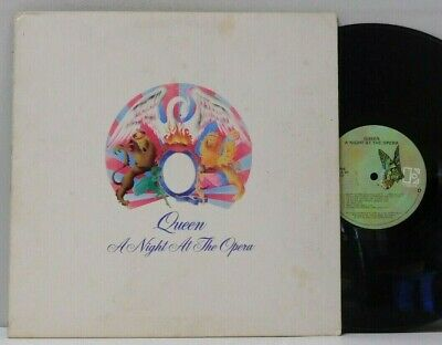 Queen LP A Night At The Opera on Elektra gatefold embossed