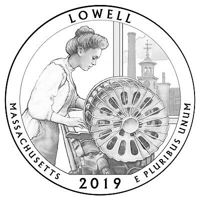 2019 P-D-S Lowell National Park, Ma Atb Quarters From Us Mint B-21-19
