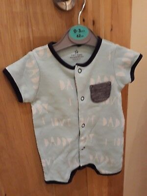 baby boys blue I love daddy  print Next short sleeved romper suit up to 1 month