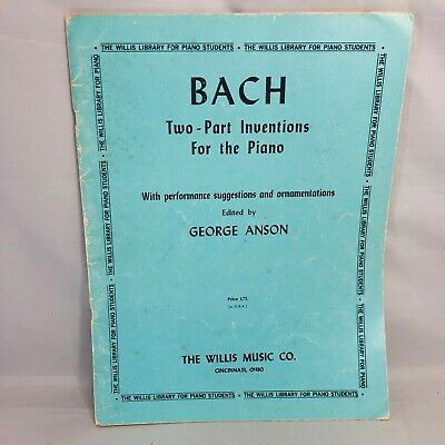 JS Bach Two Part Inventions Sheet Music Revised Edition Piano Solo N 051480591