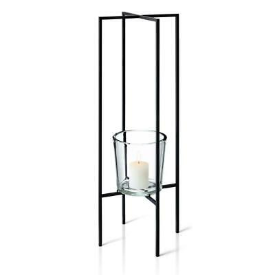 Blomus Nero Freestanding Candle Holder Candlestick Decoration Steel/Glass 80 cm