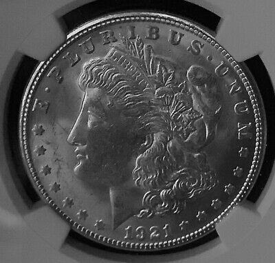 1921-S Silver Morgan Dollar $1 NGC MS 63 Quickship #05