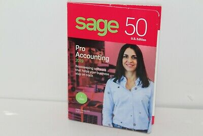 Sage 50 U.S. Edition Pro Accounting 2019 1 User *Ships from USA* Free Shipping