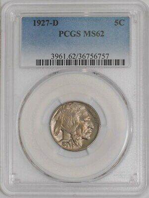 1927-D Buffalo Nickel 5c #941328-4 MS62 PCGS