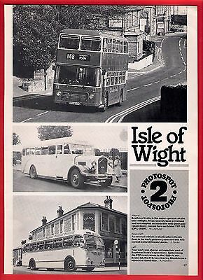 Buses Magazine Extract ~ Photospot: Isle of Wight - Southern Vectis etc - 1987