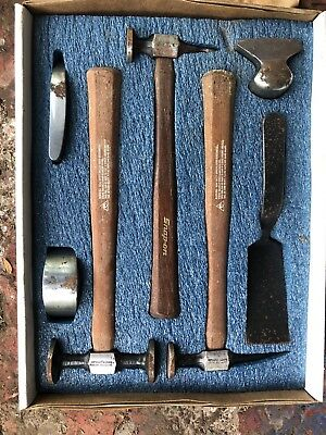 Snapon 7 Piece Body Tool Set Panel Beaters Kit Hammers, Dollies & Spoon Snap On