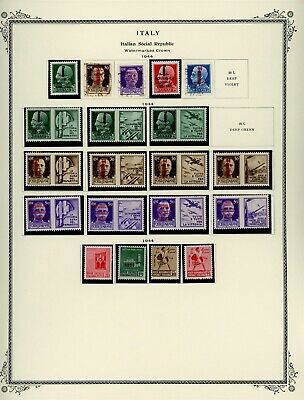 Italy Scott Specialty Album Page Lot #151 - SOCIALIST REPUBLIC - SEE SCAN - $$$