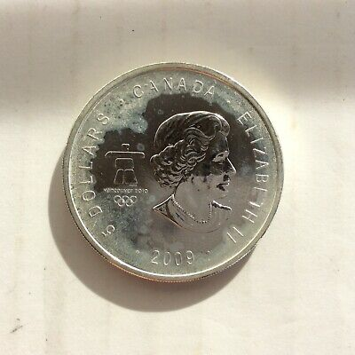 $5 Canadian Silver Coin 1 Troy Ounce .9999 Fine Silver Mint