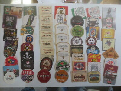 55 different  Austraian Breweries Issued, BEER COASTERS