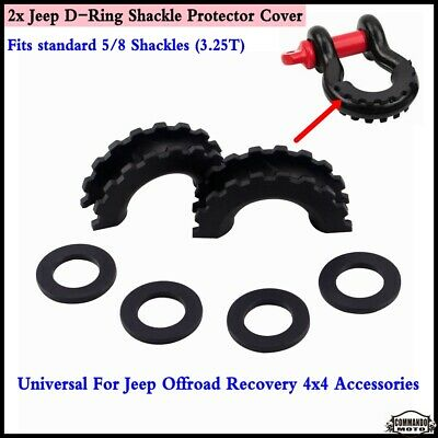 5/8 D-Ring Shackle Isolator Anti Rattle Protector Towing Part For Truck Jeep SUV