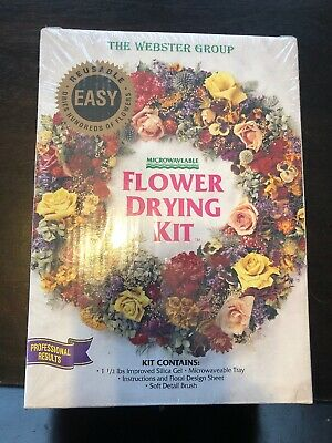 NIB Microwaveable Flower Drying Kit For Floral Craft Botanical Science Reusable!