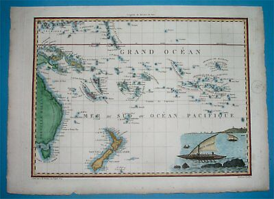 1812 Nice Original Map Australia New South Wales Sydney New Zealand Auckland