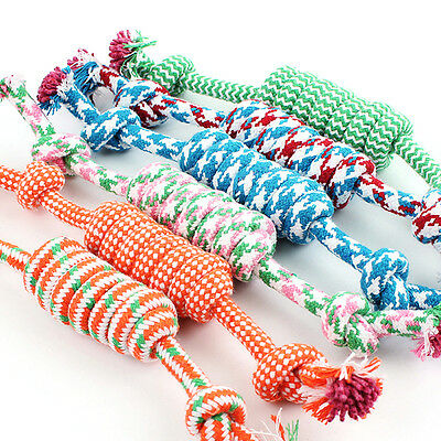 Puppy Dog Pet Chew Toy Cotton Braided Bone Tug Play Game Rope Knot Toy 27cm Nice