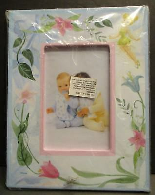 Disney Tinkerbell and Flowers Picture Frame Holds 3x4 Photo Peter Pan New
