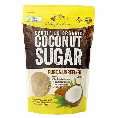 Certified Organic Coconut Sugar Chef's Choice Pure & Unrefined 500g