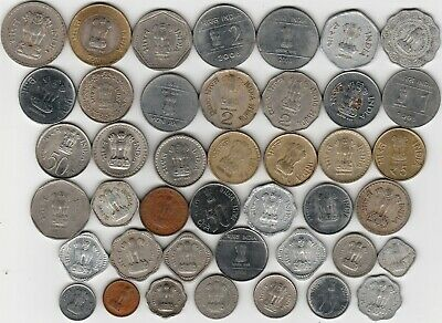 42 different world coins from INDIA