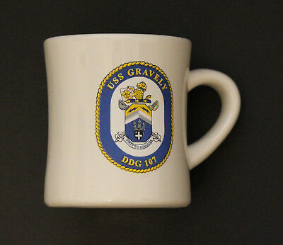USS GRAVELY (DDG-107) Coffee Mug - U.S. Navy Guided Missile Destroyer