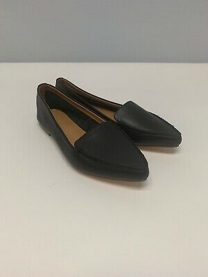 bcc548b123d J CREW Edie Black Leather Loafers Pointed Nose Flats Women s Shoes Size 6.5  NWOT