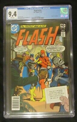 "Flash #275 CGC 9.4...Death of Iris Allen...""Batgirl"" cover by Dick Giordano"