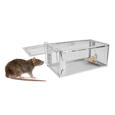 """Animal Trap 10.6""""x5.5""""x4.3"""" Steel Cage for Small Live Rodent Control Rat Mice US"""