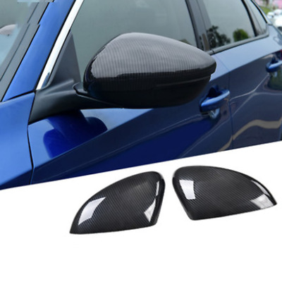 2Pcs Carbon Fiber Style Rearview Side Mirror Trim Cover For Honda Accord 2018