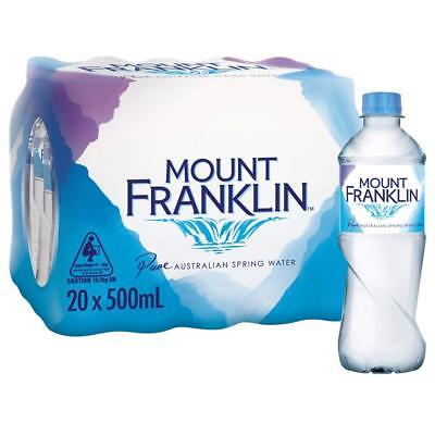 Mount Franklin Still Spring Water 20 x 500 mL NEW Free Delivery CHEAP