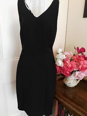 Black Retro Dress Cross Over Straps At The Back By Geoff Bade Melbourne