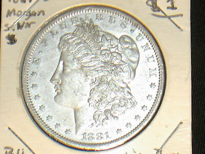 1881 S Mint US Silver Morgan Dollar Coin Nice Old Piece For USA $1 Collection