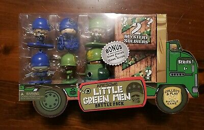 Awesome Little Green Men Series 1 Battle Pack 8 total NEW SEALED 2 mystery