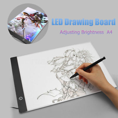A4 USB LED Art Artist Tattoo Stencil Board Light Tracing Drawing Pad Table Tool