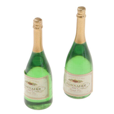 Miniature Food Toy Wine Champagne Bottles Model For 1/12 Dolls House Decor