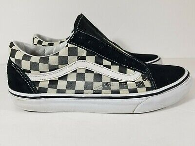 27e97ec2598df8 VANS OLD SKOOL Primary Check Size 9 Checker Black Checkerboard ...