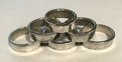 Canada Silver Coin Ring Made From Canadian 25 Cent Size: 5 To 8 No Reserve #111