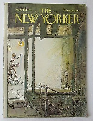 THE NEW YORKER MAGAZINE, April 19 1976, Getz Cover