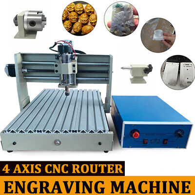 USB 4 Axis Engraver CNC 3040 Router Engraving Milling 3D Cutting Machine 400W UK