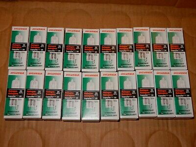 Lot Of 20 Sylvania 25 Capsylite G9 120V 25W Clear Bulbs
