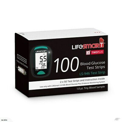 LifeSmart 2TwoPlus Glucose 100 Test Strips **Exp 12/2020 Express Available**