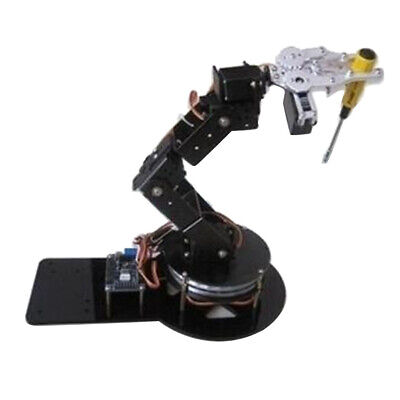 6 Axis Robotic Mechanical Arm w/ Gripper Servo Base For Arduino