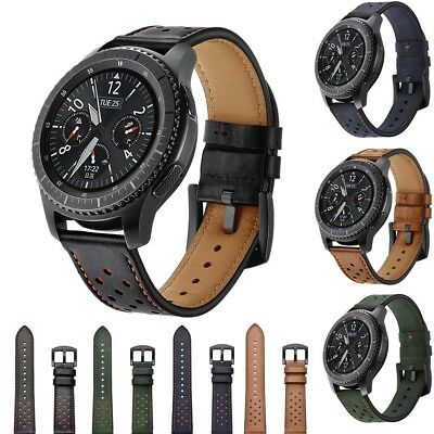 For Samsung Galaxy Gear S3 Frontier Classic Leather Strap Belt Watch Band 22mm