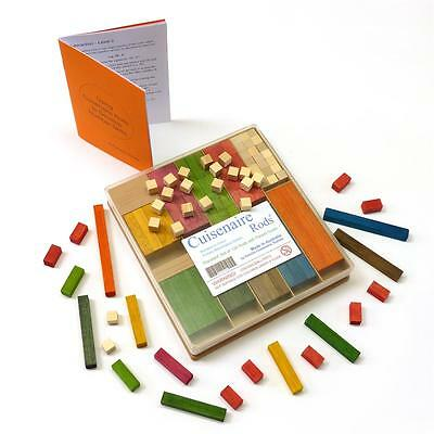 ARITHMETIC help! 136 Wooden CUISENAIRE Rods  for PRIMARY SCHOOL  + PARENT GUIDE