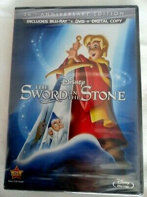 Disney's The Sword In The Stone 50th Anniversary Edition DVD Blu Ray Digital NEW
