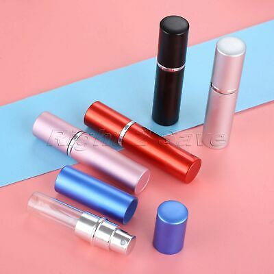 5ML Travel Mini Refillable Portable Empty Atomizer Perfume Spray Bottle 5 Colour