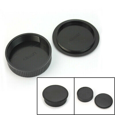 42mm Plastic Front & Rear Cap Cover For M42 Digital Camera Body and Lens fgj