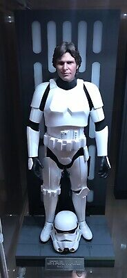 Hot Toys MMS418 Star Wars Han Solo in Stormtrooper Disguise Figure *Excellent*