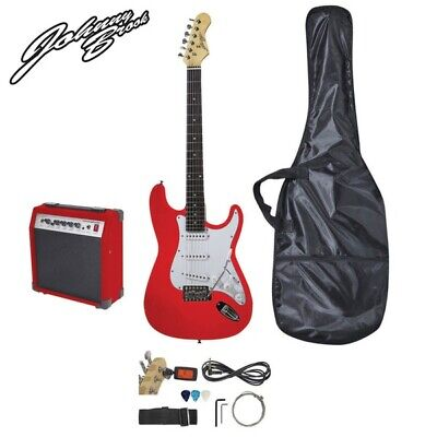 Johnny Brook Standard Electric Guitar Kit (RED) with 20W Combo Amplifier & Bag