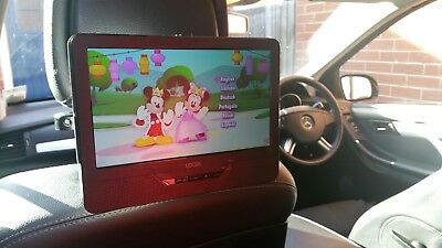 """Logik 9"""" 12v In Car Portable DVD Player + Rechargeable Battery + Mounting Kit"""
