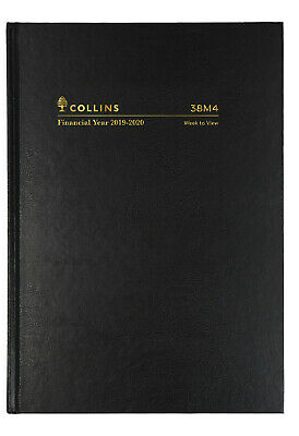 2019-2020 Financial Year Diary Collins A5 Week to View Black 38M4
