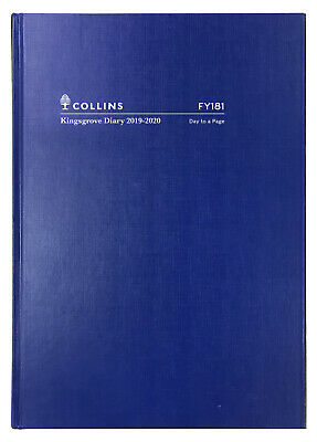2019-2020 Financial Year Diary Collins Kingsgrove A5 Day to Page Blue FY181