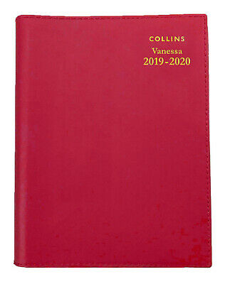 2019-2020 Financial Year Diary Collins Vanessa A5 Week to View Red FY385